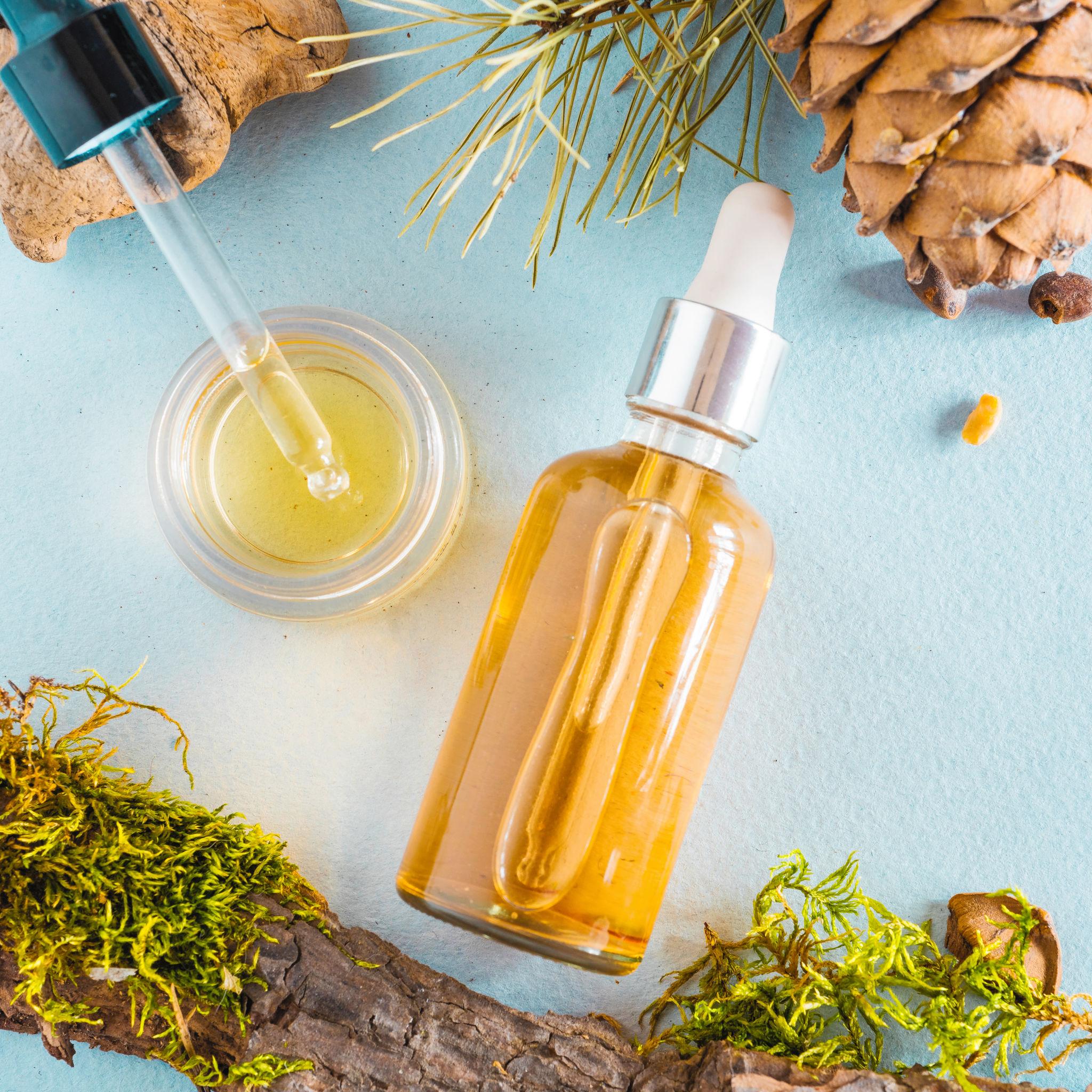 Presentación de aceite para el pelo