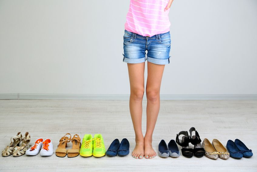 elección de zapatos