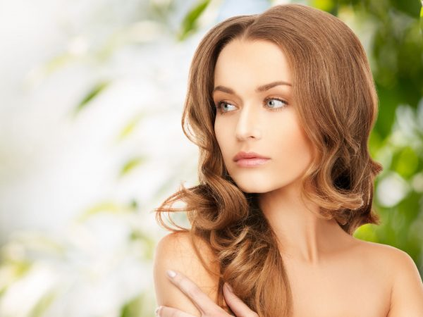 20956826 – beauty, hair and eco cosmetology – beautiful woman with long hair