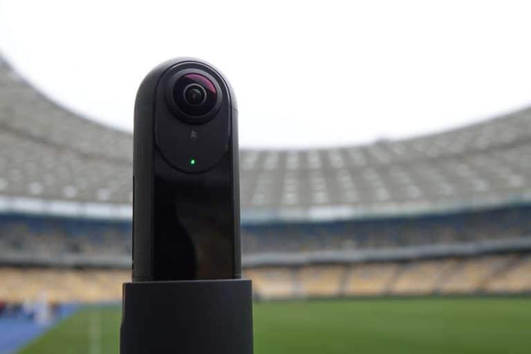 Cámara 360° en estadio