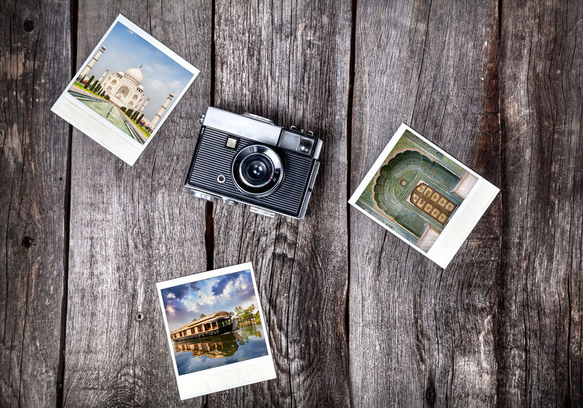 Cámara instantánea con Fotografías alrededor