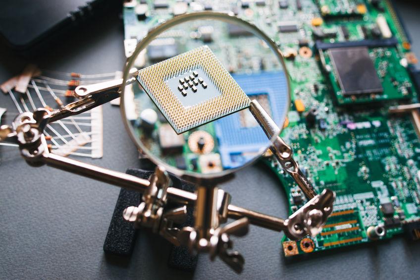 Lupa y microchip