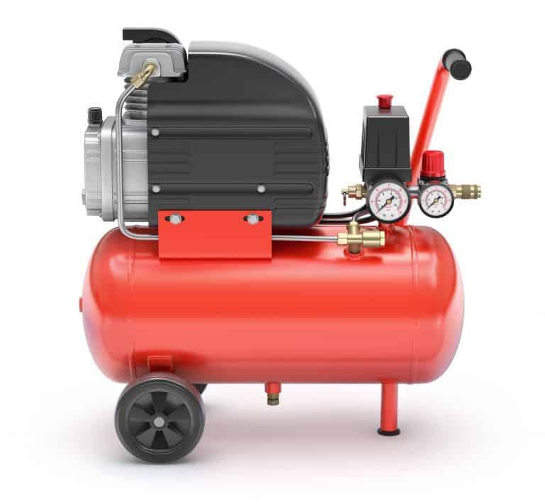Compresor de aire portátil rojo