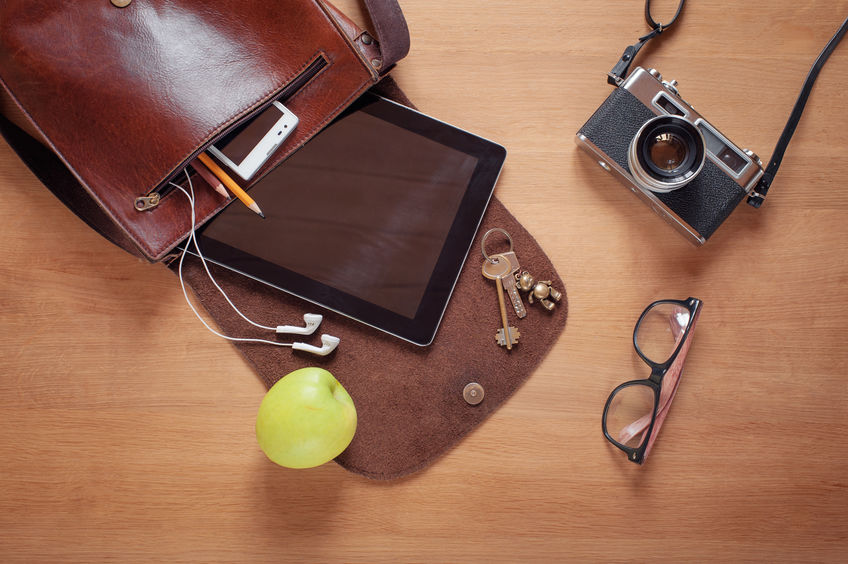 Overhead of essentials for modern young person