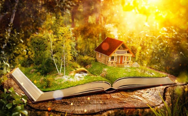 Casa en un bosque perdido