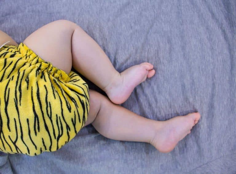 Pañal ecológico con rayas de tigre