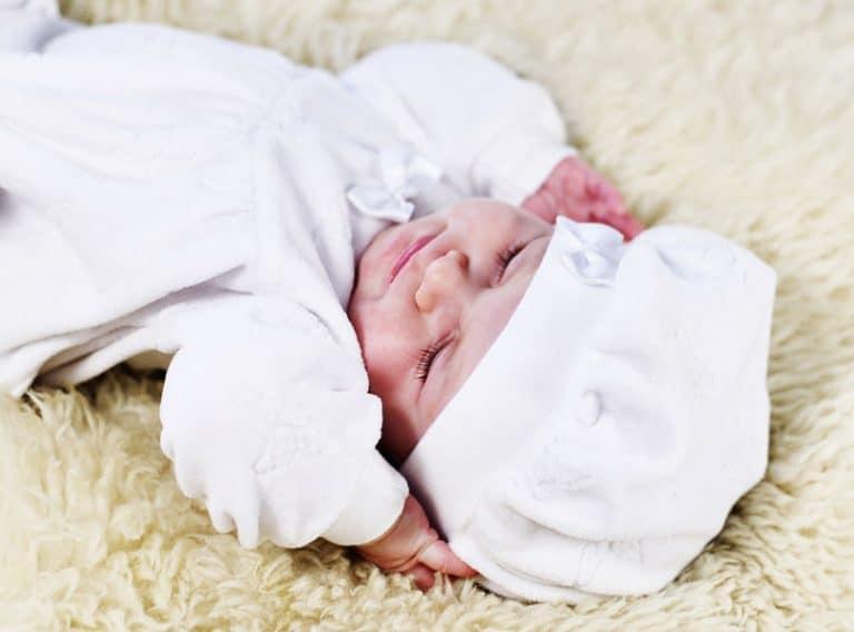 Mantas de bebé blanca