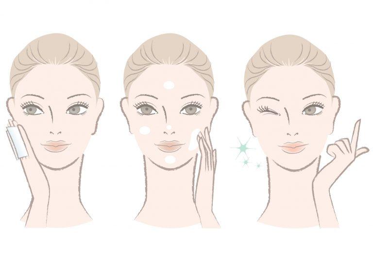 Vector de crema facial