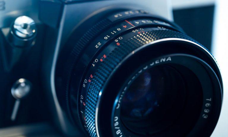 Vista del lente de cámara digital