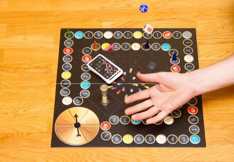 tablero de juego de mesa completo