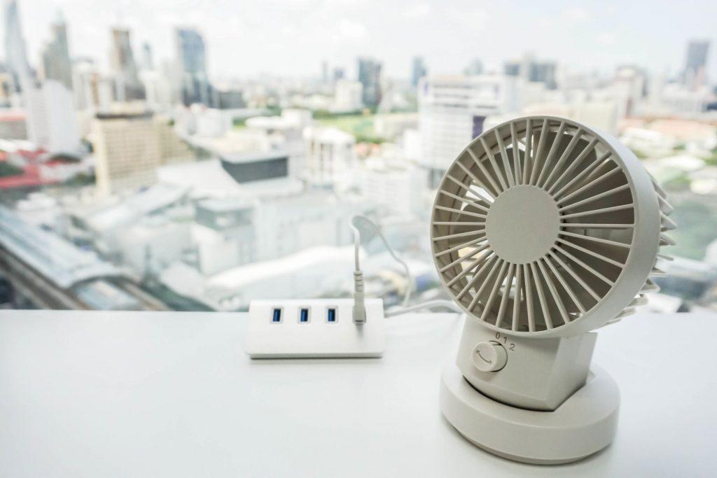 para Oficina//Hogar//Viajar//Acampar Alimentado por USB Personal Port/átil Ventilador PC Mini Ventilador USB Silencioso TedGem Ventilador USB