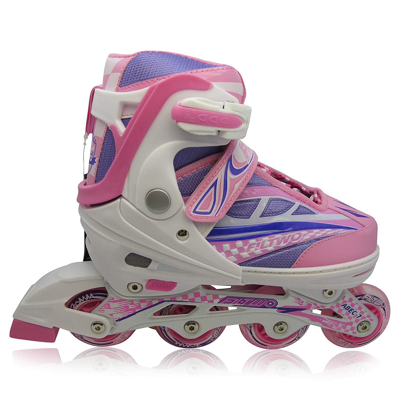 Patines en línea con Luces que se encienden en las ruedas para niños y adolescentes - talla adjustable - varios colores