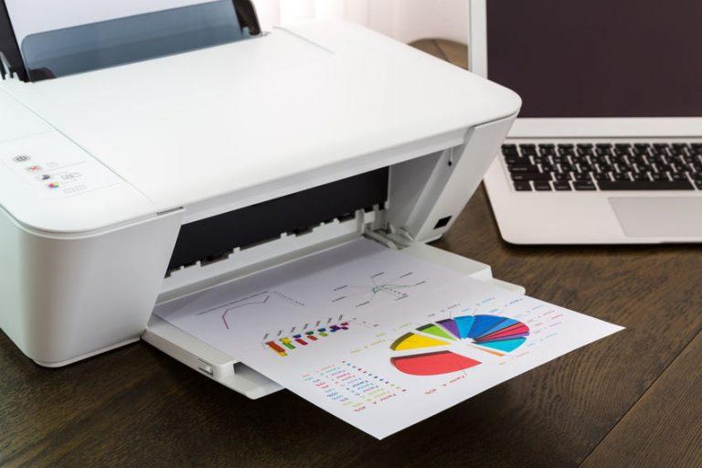 Impresora imprimiendo gráfica