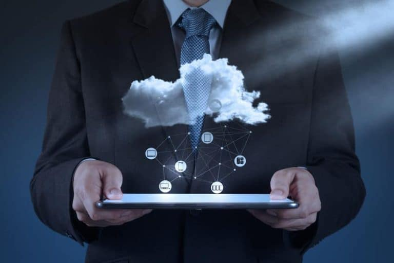 Ilustración de almacenaje en la nube
