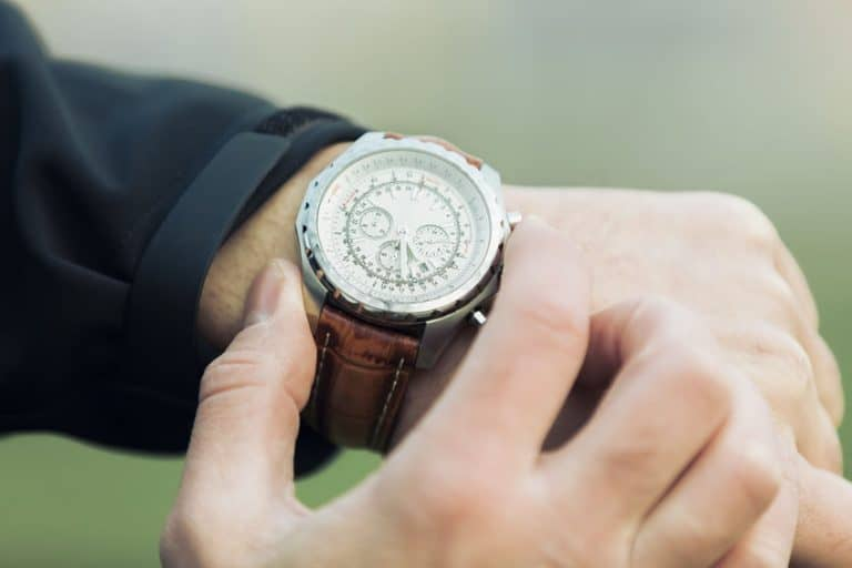 Reloj de pulsera de cerca