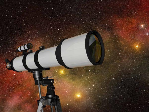 Telescopio con fondo iluminado
