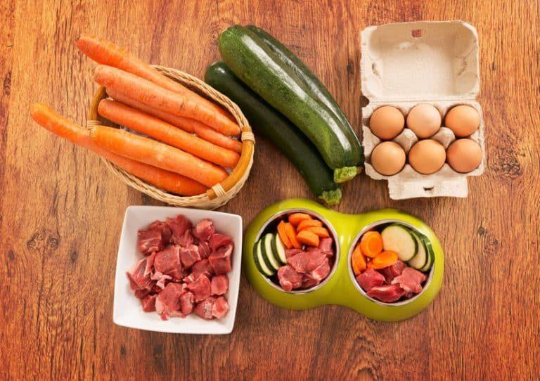 Ingredientes para comida de perro