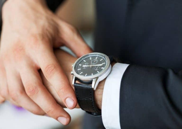 Reloj de hombre elegante