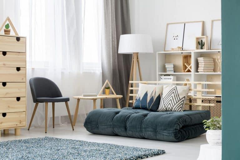 sofá cama azul