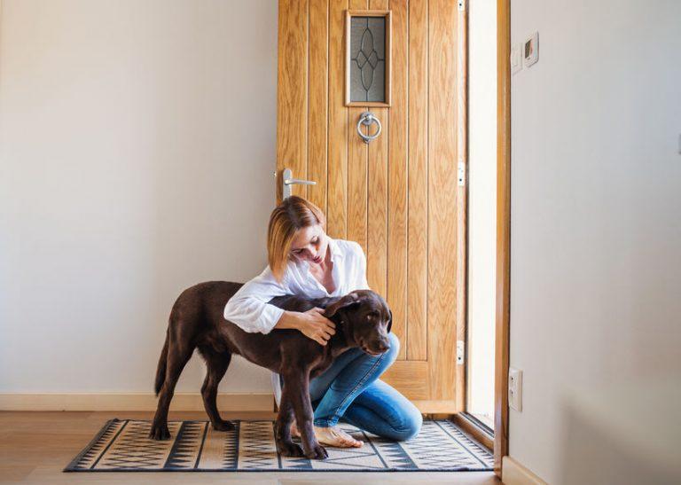Mujer con su mascota