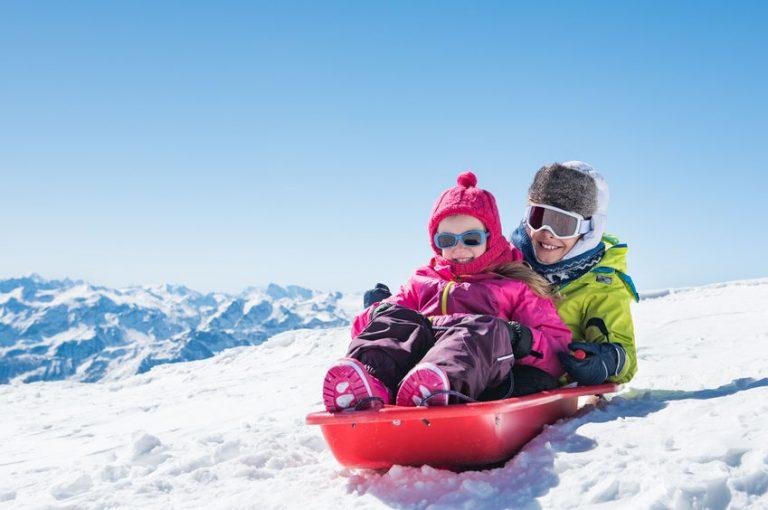 Niños en la nieve