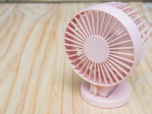 Ventilador rosado