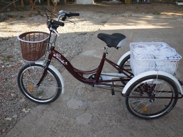 Triciclo para adulto con canastilla delantera