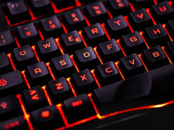 Teclado gaming color rojo