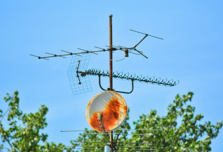 Antena sobre tejado