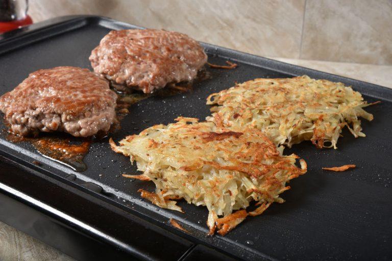 Tortas de carne en plancha