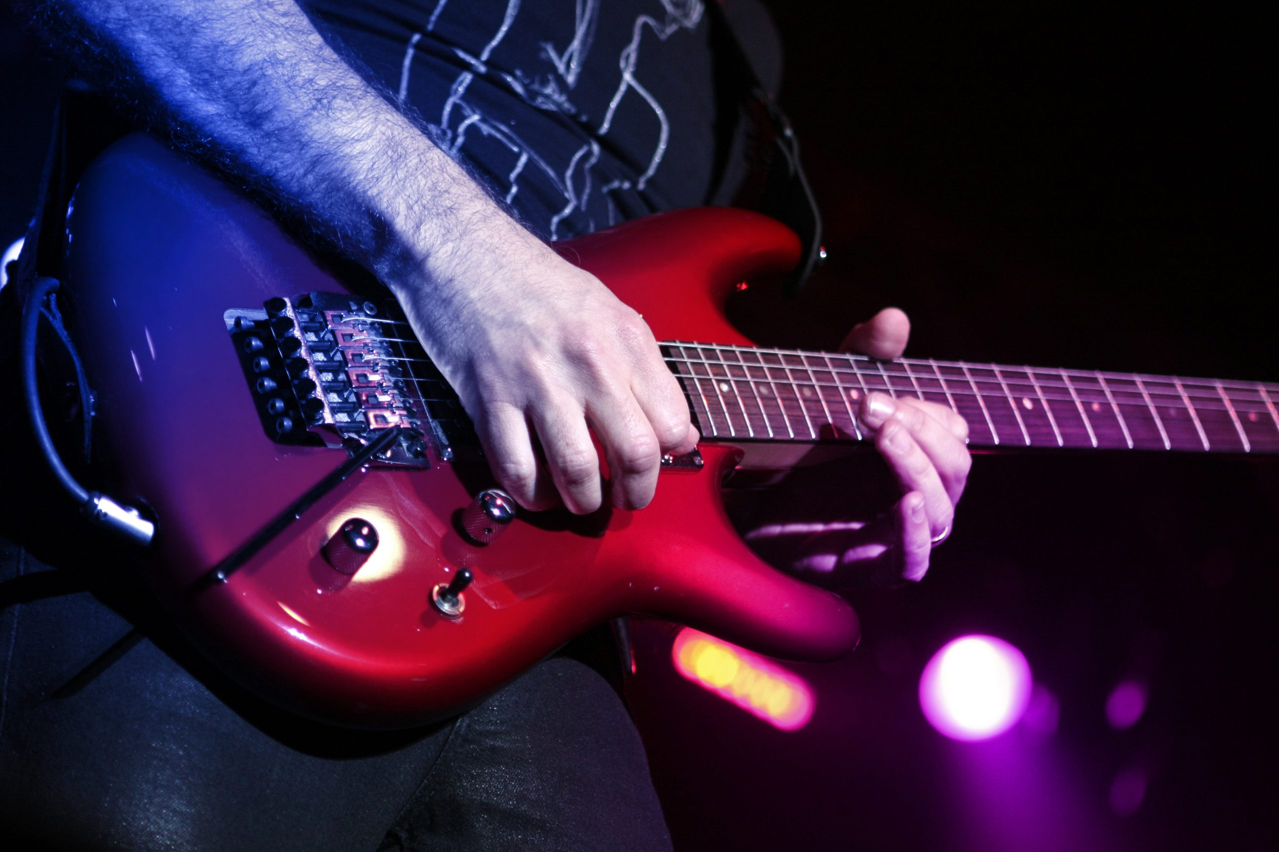 Guitar player with electric guitar
