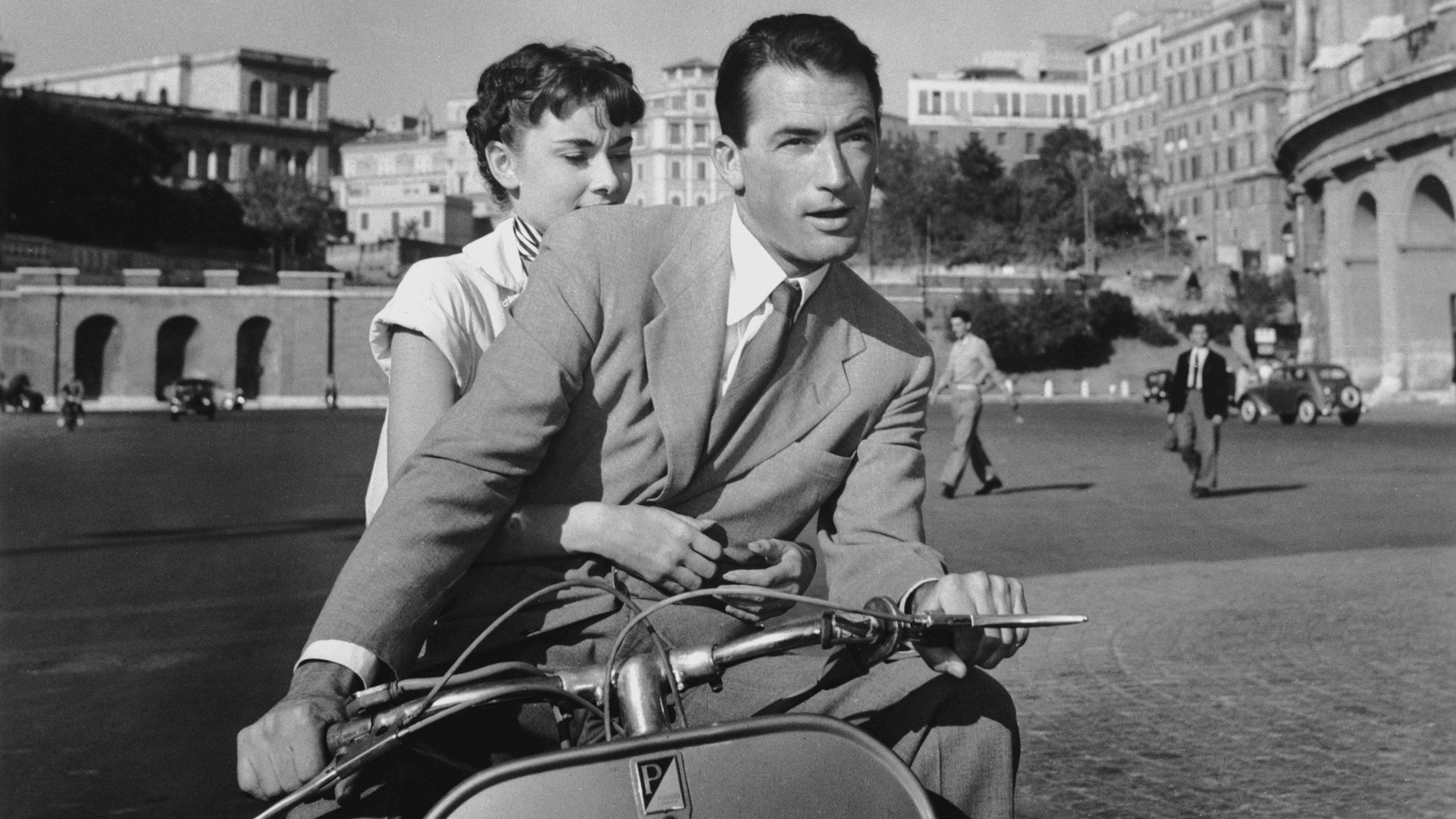 Escena de la pelicula romántica Vacaciones en Roma