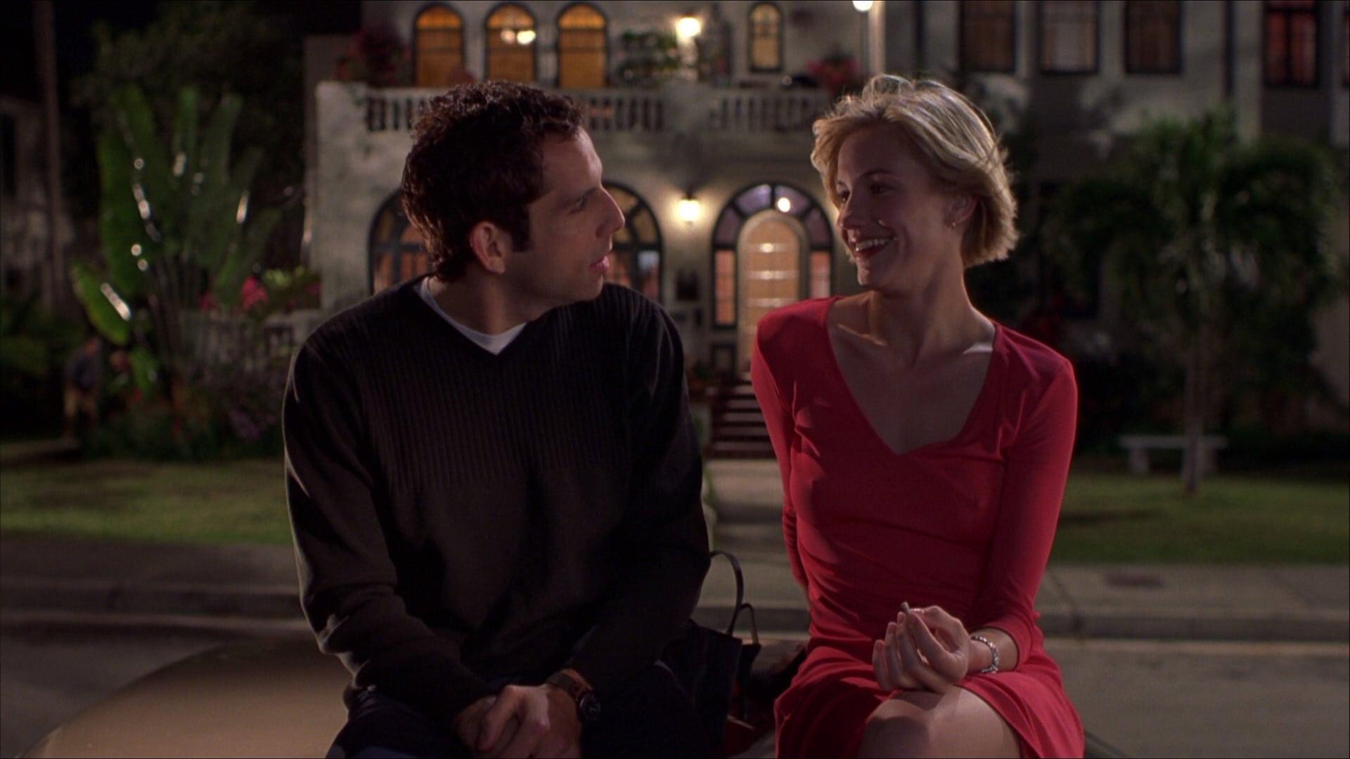 Escena de la pelicula romántica Algo pasa con Mery