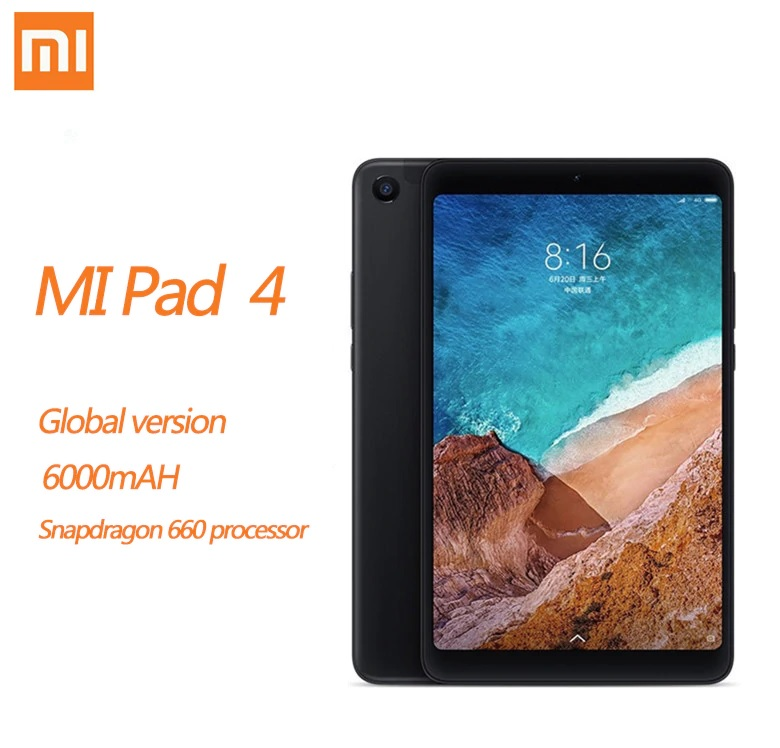 Xiaomi MI Pad 4 Tablet 8,0 4GB + 64GB 98 nueva pulgadas Android Tablet WIFI LTE HD pantalla 6000 mAh MIUI 9,0 Snapdragon 660 Core 8 PC