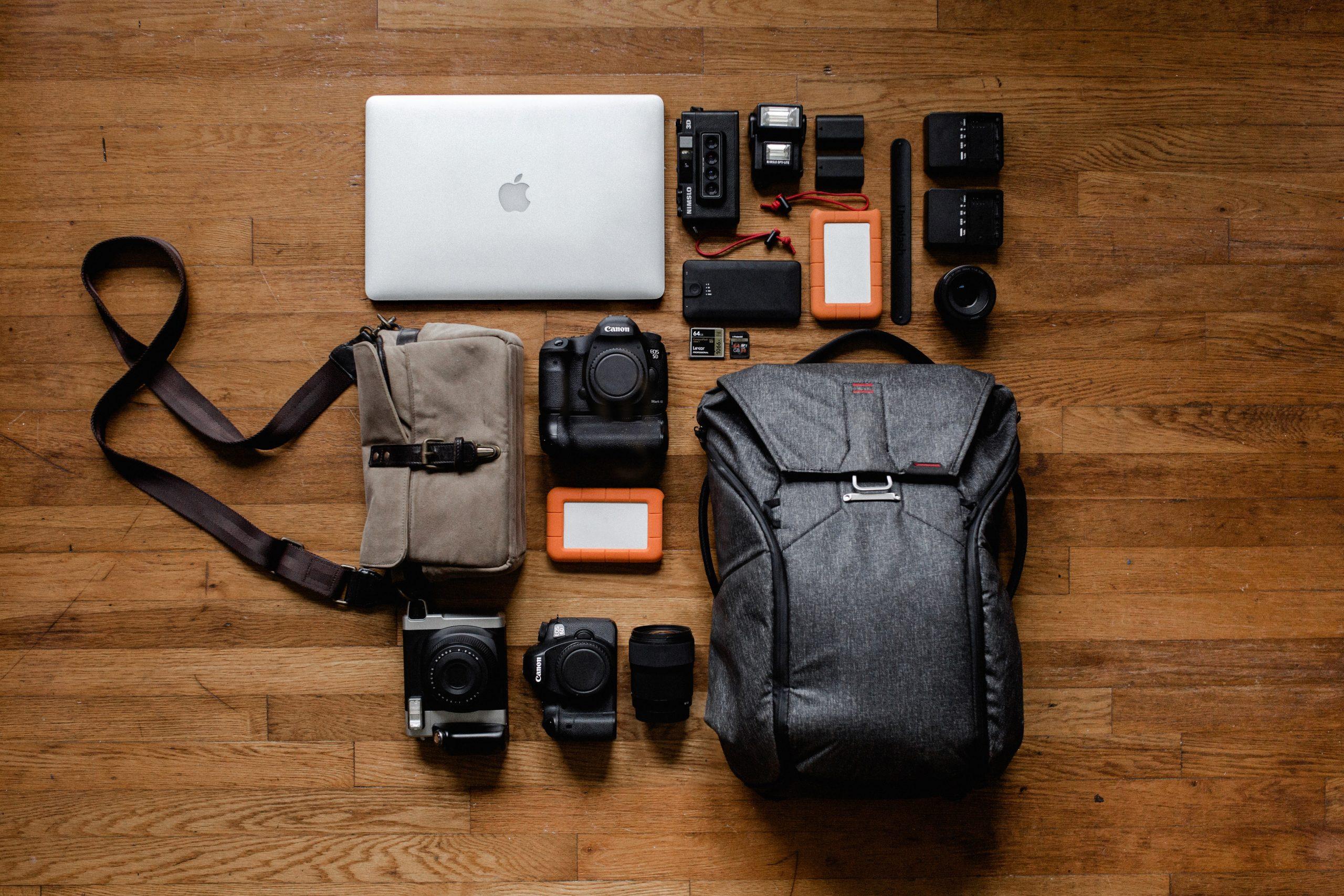 skaitmeninių fotoaparatų bagažas