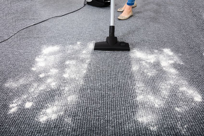 aspiradora dyson limpiando alfombra