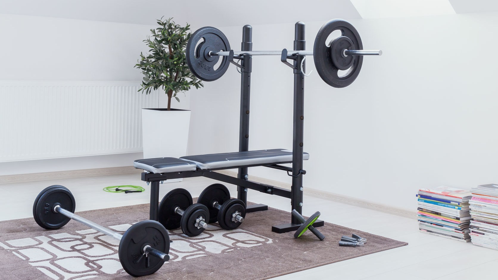banca de pesas para entrenar en casa