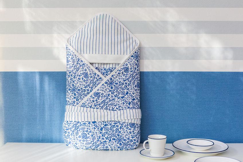 saco azul para bebes