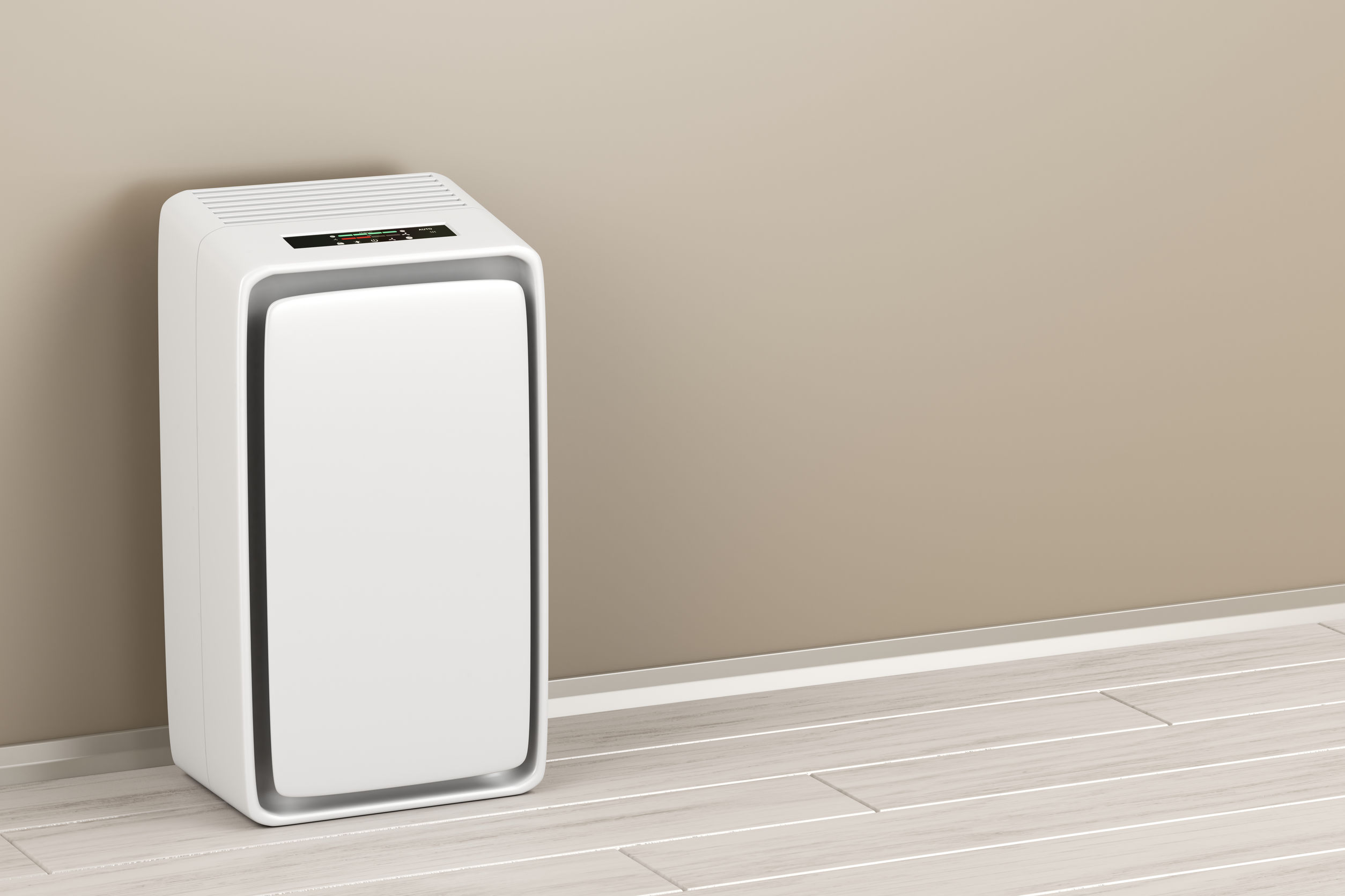 Climatizador eléctrico en la habitación.