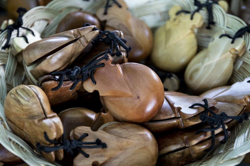 castañuelas de madera