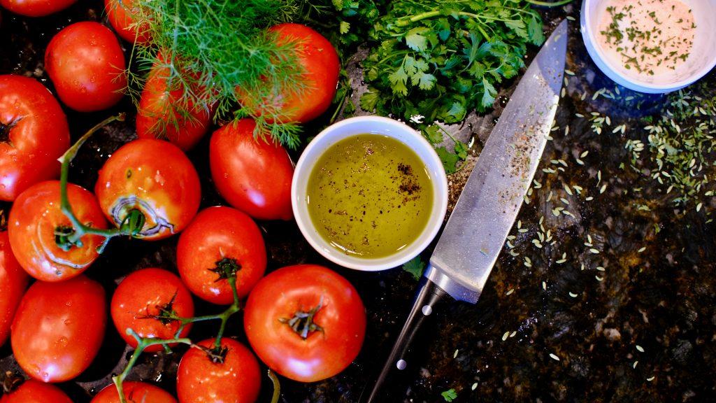 cortando vegetales