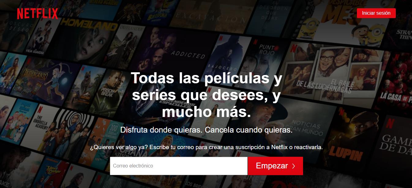 Plataforma en línea Netflix
