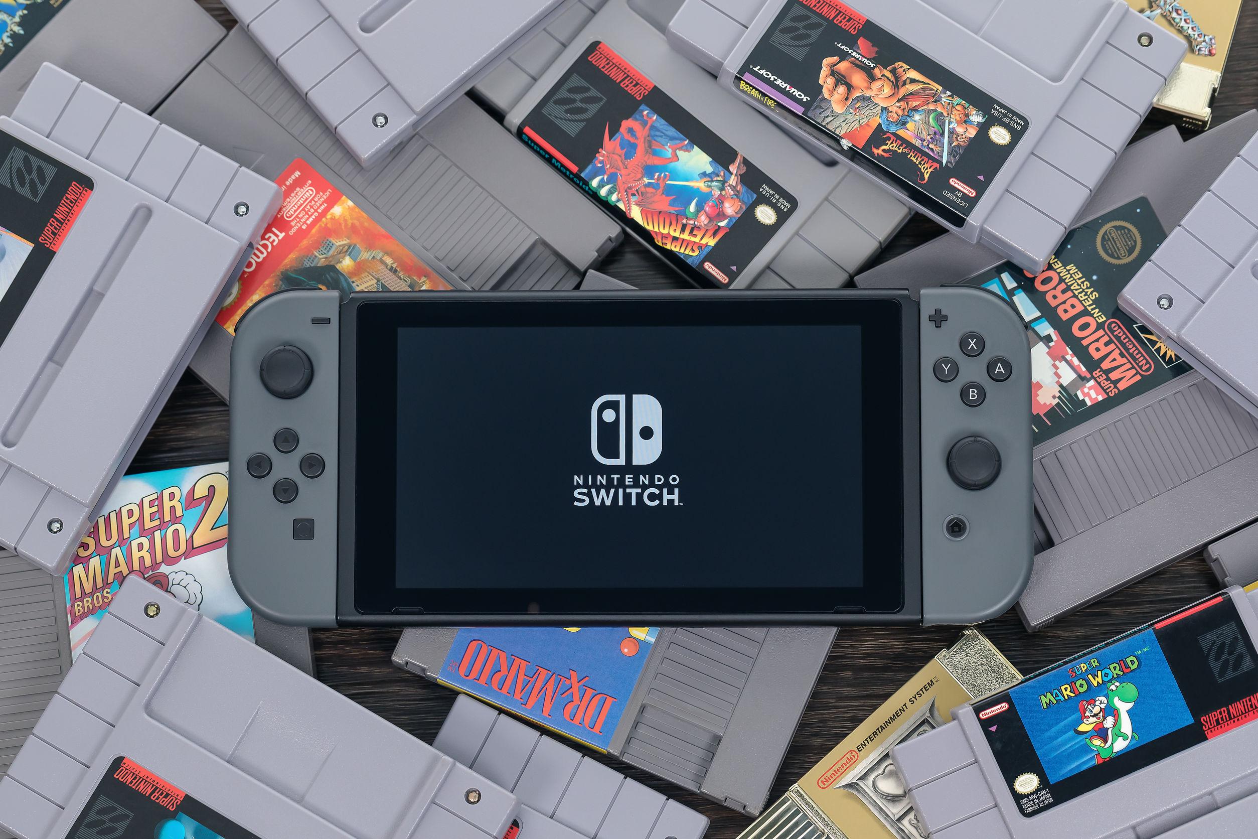 nintendo switch y juegos de super nintendo