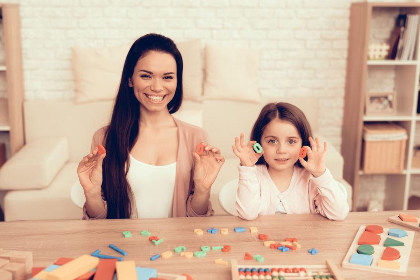 madre e hija en juegos de mesa