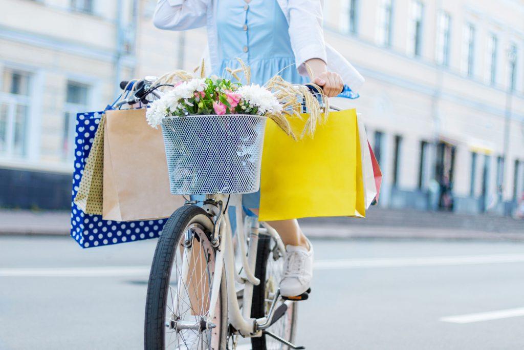 bicicleta con cestas
