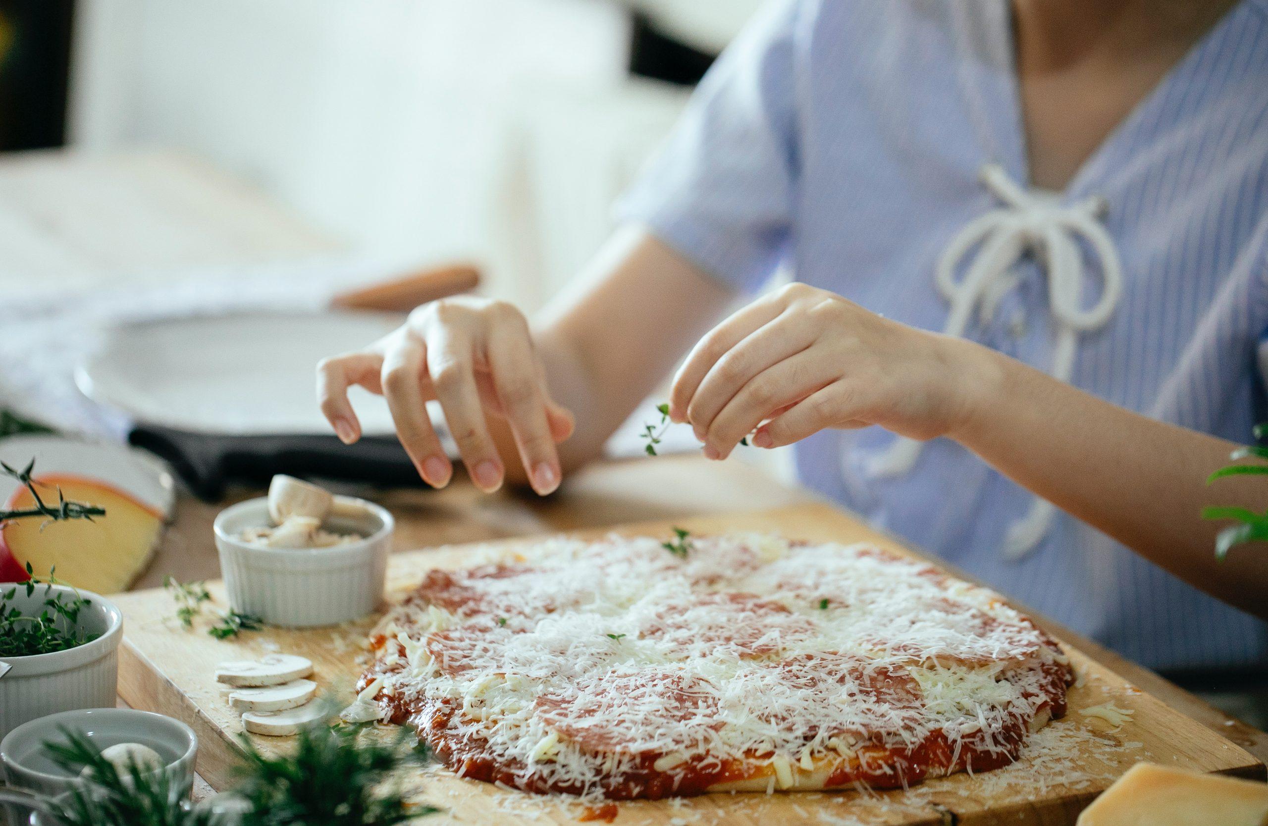 pizza con lavadura traducional