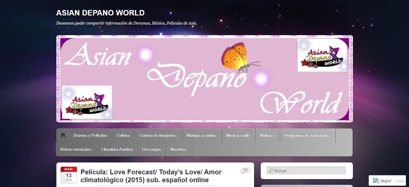 Plataforma en línea Asian Depano World