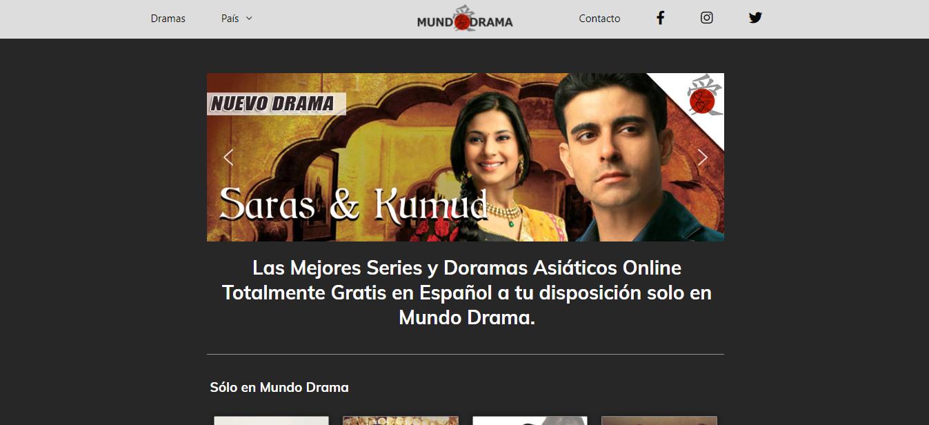 Plataforma en línea MundoDrama