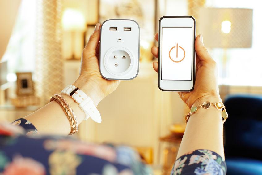 enchufe smart conectado con wifi
