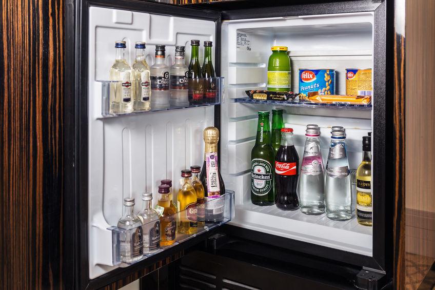 congelador con bebida